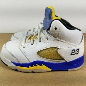 Jordan 5 Retro Laney 2013 Toddler Shoe Size 6C